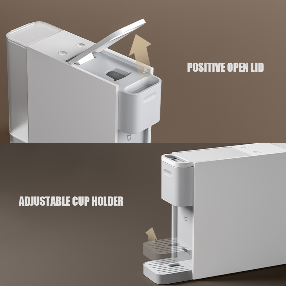 Youpin Capsule Coffee Machine Coffee Maker Electric Coffee Lightweighted Design Compatible with Kitchen Living Room Office 220V - Youpin - Kitchen Appliances - BBCPAA2599W-AU - bargainbasement.club