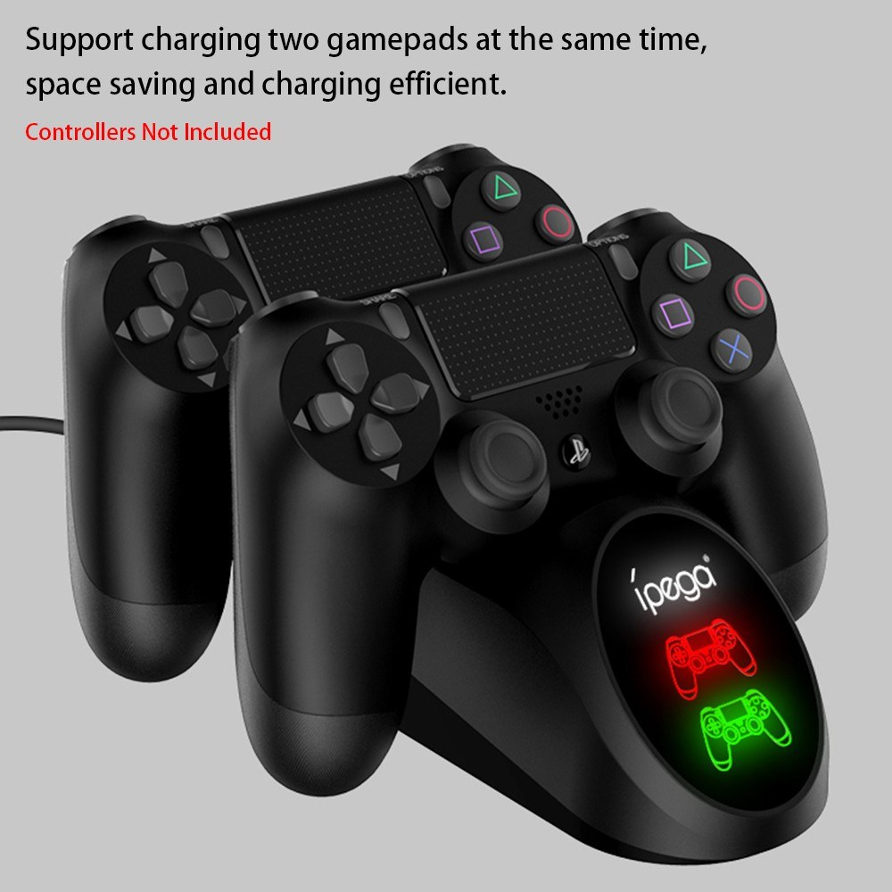 iPega PG-9180 Dual Charging Base Charger Dock Stand Station with LED Display Indicator Compatible with Playstation 4 PS4 Game Controller Gamepad - Ipega - Nintendo Switch Accessories - BBCPAG0061 - bargainbasement.club